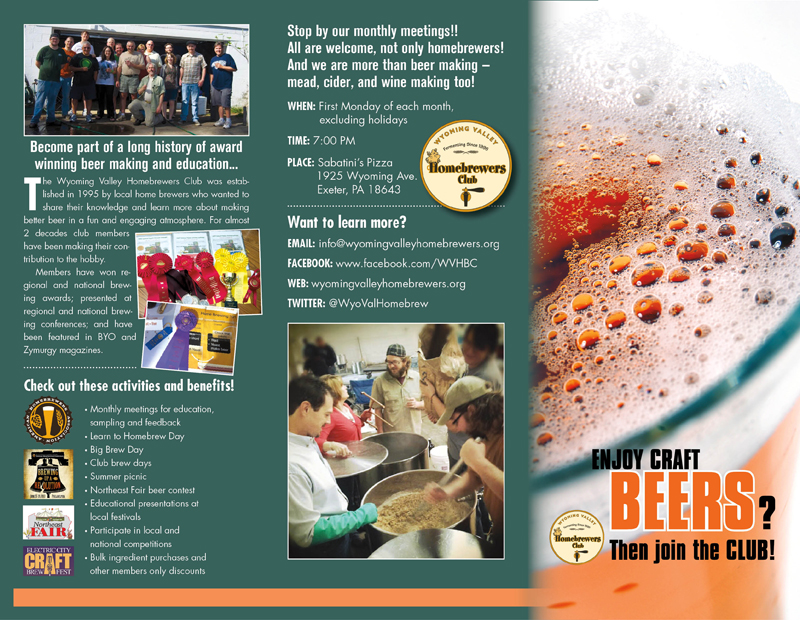 Wyoming Valley Home Brewers Trifold Outside